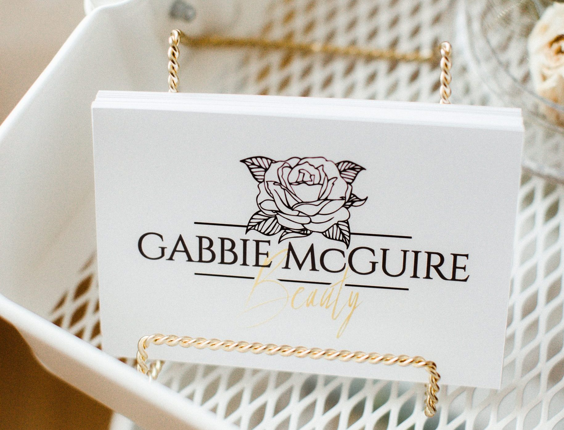 Beautiful Make-up artist branding, Gabbie McGuire Makeup Artist, Hairstylist, Montréal